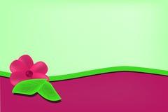 Ανοικτό πράσινο υπόβαθρο με το ροδανιλίνης κύμα διανυσματική απεικόνιση