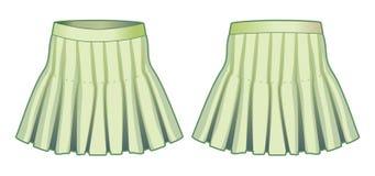 Ανοικτό πράσινο φούστα Στοκ Φωτογραφίες