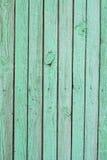 Ανοικτό πράσινο shabby φράκτης Στοκ Φωτογραφία