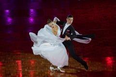 2018 ανοικτό πρωτάθλημα χορού αιθουσών χορού της Κίνας Παγκόσμιου Κυπέλλου WDC Στοκ Φωτογραφίες