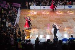 2018 ανοικτό πρωτάθλημα χορού αιθουσών χορού της Κίνας Παγκόσμιου Κυπέλλου WDC Στοκ Εικόνες