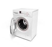 Ανοικτό πλυντήριο στην άσπρη τρισδιάστατη απεικόνιση υποβάθρου Στοκ φωτογραφία με δικαίωμα ελεύθερης χρήσης