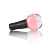 Ανοικτό ροζ καρφί στίλβωση με την αντανάκλαση Στοκ φωτογραφία με δικαίωμα ελεύθερης χρήσης