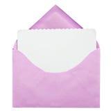 ανοικτό ροζ φακέλων Στοκ Εικόνα