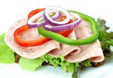 ανοικτό σάντουιτς Στοκ Εικόνες