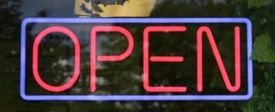 ανοικτό σημάδι Στοκ Εικόνες