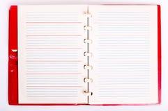 Ανοικτό σημειωματάριο κενών σελίδων. Παλαιό σημειωματάριο εγγράφου Στοκ εικόνα με δικαίωμα ελεύθερης χρήσης
