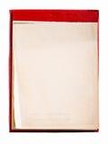 Ανοικτό σημειωματάριο κενών σελίδων. Παλαιό σημειωματάριο εγγράφου Στοκ Εικόνες