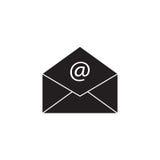 Ανοικτό στερεό εικονίδιο ταχυδρομείου, που αντιπροσωπεύει το ηλεκτρονικό ταχυδρομείο, φάκελος ελεύθερη απεικόνιση δικαιώματος