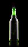 Ανοικτό υγρό μπουκάλι μπύρας Στοκ εικόνα με δικαίωμα ελεύθερης χρήσης