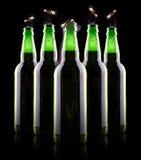 Ανοικτό υγρό μπουκάλι μπύρας Στοκ εικόνες με δικαίωμα ελεύθερης χρήσης
