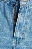 Ανοικτό φερμουάρ στο τζιν παντελόνι Στοκ φωτογραφία με δικαίωμα ελεύθερης χρήσης