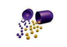 ανοικτό χάπι Στοκ εικόνες με δικαίωμα ελεύθερης χρήσης