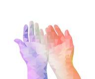 Ανοικτό χέρι πολυγώνων Στοκ Εικόνα