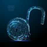 Ανοικτό χαμηλό πολυ μπλε κλειδαριών Στοκ φωτογραφία με δικαίωμα ελεύθερης χρήσης