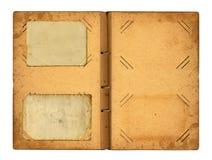 Ανοικτό photoalbum με την κορδέλλα για τις φωτογραφίες στην απομονωμένη λευκιά ΤΣΕ Στοκ φωτογραφία με δικαίωμα ελεύθερης χρήσης
