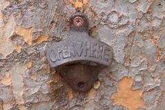 Ανοιχτήρι μπουκαλιών στο δέντρο μου στοκ φωτογραφίες με δικαίωμα ελεύθερης χρήσης