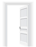 Ανοιχτή πόρτα - διανυσματική απεικόνιση Στοκ εικόνα με δικαίωμα ελεύθερης χρήσης