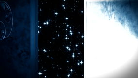 ανοιχτή πόρτα μετά θάνατον ζωής διανυσματική απεικόνιση
