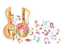 Ανοιχτή πόρτα μουσικής ζωηρόχρωμη απεικόνιση αποθεμάτων