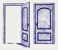 Ανοιχτή πόρτα Στοκ φωτογραφία με δικαίωμα ελεύθερης χρήσης