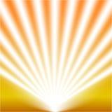 Ανοιχτό λευκό επικέντρων Πρότυπο για την ελαφριά επίδραση σε ένα κίτρινο υπόβαθρο επίσης corel σύρετε το διάνυσμα απεικόνισης Στοκ Εικόνες