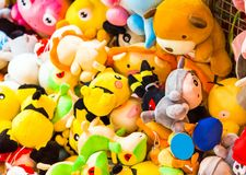 ΑΝΟΙ, ΒΙΕΤΝΑΜ - 16 ΔΕΚΕΜΒΡΊΟΥ 2016: Μαλακά παιχνίδια παιδιών ` s Κινηματογράφηση σε πρώτο πλάνο Στοκ Εικόνες