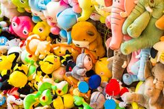 ΑΝΟΙ, ΒΙΕΤΝΑΜ - 16 ΔΕΚΕΜΒΡΊΟΥ 2016: Μαλακά παιχνίδια παιδιών ` s Κινηματογράφηση σε πρώτο πλάνο Στοκ Φωτογραφία