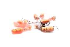 Ανοξείδωτος κλέψτε την οδοντοστοιχία Στοκ Φωτογραφία