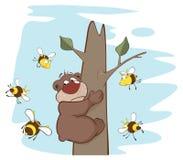 Αντέξτε και μέλισσες cartoon ελεύθερη απεικόνιση δικαιώματος