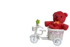 αντέξτε κόκκινο teddy Στοκ Φωτογραφίες
