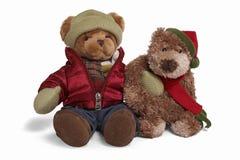 αντέξτε μαλακό teddy ζευγών Στοκ Φωτογραφίες