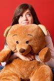 αντέξτε να ανατρέξει teddy νεολαίες γυναικών Στοκ εικόνα με δικαίωμα ελεύθερης χρήσης