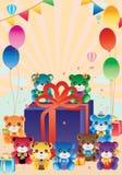 Αντέξτε πολλή κάρτα δώρων απεικόνιση αποθεμάτων