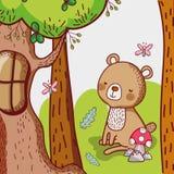 Αντέξτε στο δάσος διανυσματική απεικόνιση