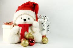αντέξτε τα Χριστούγεννα teddy Στοκ φωτογραφία με δικαίωμα ελεύθερης χρήσης