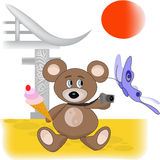 αντέξτε την Κίνα teddy Στοκ Φωτογραφία