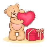 αντέξτε την καρδιά teddy Στοκ εικόνες με δικαίωμα ελεύθερης χρήσης