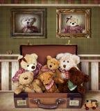 αντέξτε την οικογένεια teddy Στοκ εικόνες με δικαίωμα ελεύθερης χρήσης