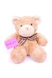 αντέξτε τη σημείωση teddy σας &epsilon Στοκ Φωτογραφία