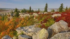 Αντέξτε τους βράχους μετακινείται τη δυτική Βιρτζίνια γρασιδιών Στοκ Φωτογραφίες