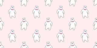 Αντέξτε το άνευ ραφής υπόβαθρο ταπετσαριών δεσμών τόξων πολικών αρκουδών διανυσματικό απομονωμένο σχέδιο ελεύθερη απεικόνιση δικαιώματος