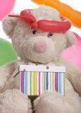 αντέξτε το δώρο κιβωτίων teddy Στοκ Εικόνα