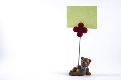 αντέξτε το κενό σημάδι teddy στοκ φωτογραφία με δικαίωμα ελεύθερης χρήσης