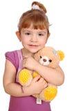 αντέξτε το κορίτσι λίγο teddy π&a Στοκ Εικόνες