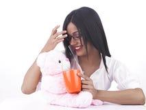 αντέξτε το κορίτσι το ροζ &t Στοκ εικόνα με δικαίωμα ελεύθερης χρήσης