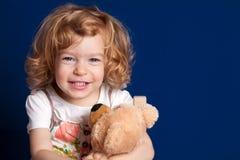 αντέξτε το κορίτσι teddy Στοκ φωτογραφία με δικαίωμα ελεύθερης χρήσης