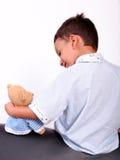 αντέξτε το παιδί αγοριών teddy στοκ εικόνες