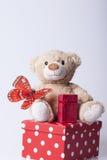 Αντέξτε το παιχνίδι και τα δώρα Στοκ φωτογραφία με δικαίωμα ελεύθερης χρήσης