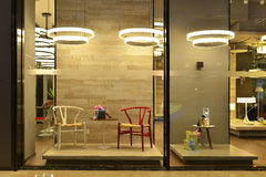αντέξτε το παράθυρο γλυκών καταστημάτων κιβωτίων Στοκ Εικόνα